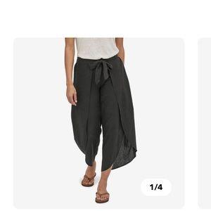 Womens Patagonia linen wrap pants w/front tie